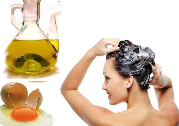 mujer cuidando su cabello de forma natural