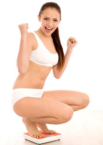 mujer llegando al peso ideal