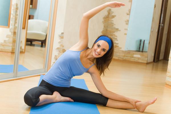 mujer con ejercicio