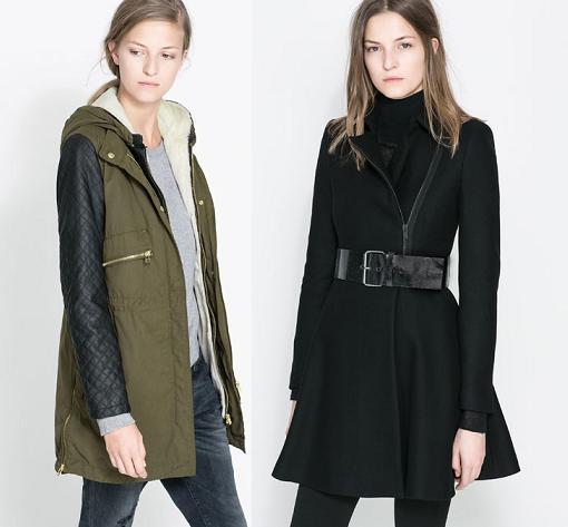 abrigo de zara