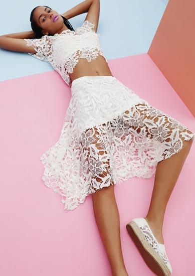 primark falda blanca